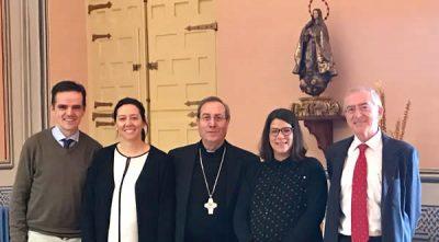 Con el arzobispo de Pamplona