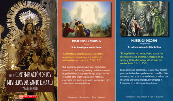 Contemplación de los misterios del Santo Rosario